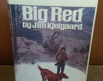 Big Red by Jim Kjelgaard/Bantam Book/Young Readers Books/Collectible Classic Book/Classroom Decor/Nursery Decor/Hardcover Book/Vintage 1980
