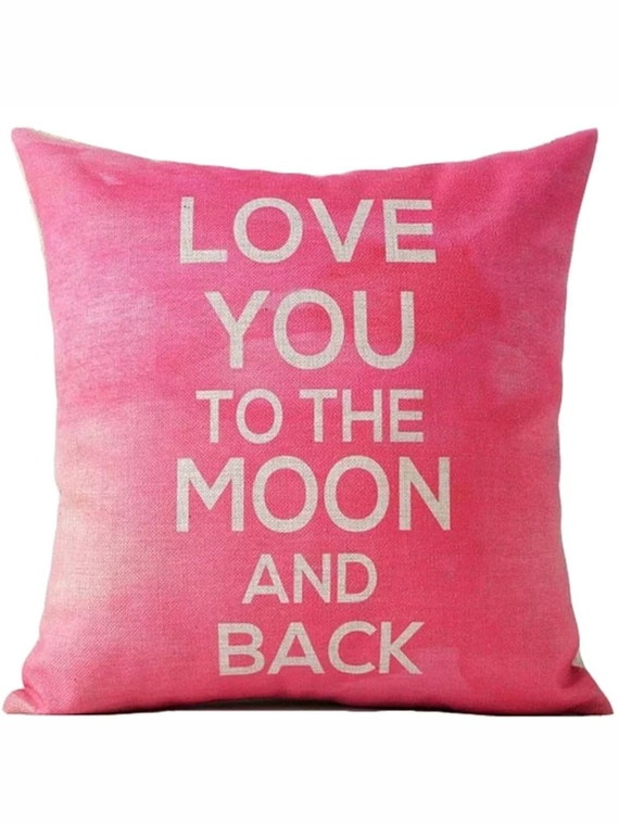 Throw Pillow I Love You To The Moon And Back : Love You to the Moon and Back Throw Pillow