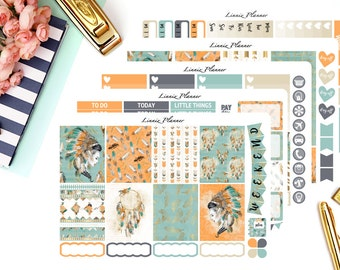 Native Weekly Kit or Al a Carte (matte planner sticker, fits perfect in Erin Condren Life Planner Vertical)