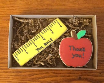 Teacher appreciation decorated cookie set