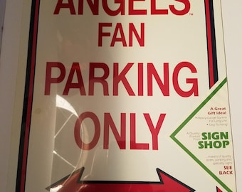 Vintage 1980s Angels BaseBall Sign