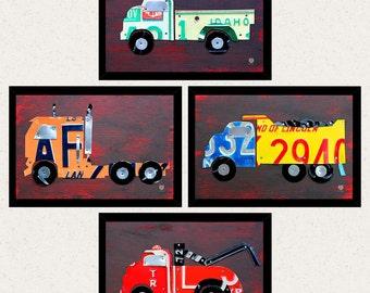 Cute Truck Wall Art - Boys Room Decor