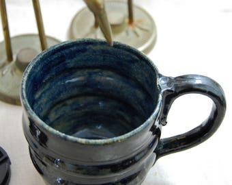 Midnight - handmade coffee mug, blue coffee mug, stoneware coffee cup, ceramic mug, pottery mug, stoneware mug, tea mug, gift idea, handmade