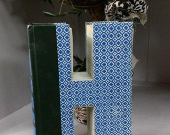 Book Letter H - Custom UpCycled Vintage Readers Digest