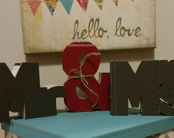 Book Letter Mr and Mrs MINIs - Custom UpCycled Readers Digest - Wedding Anniversary Gifts Decor