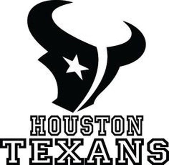 Houston Texans: Houston Texans NFL Football Sport Logo Vinyl Sticker Art