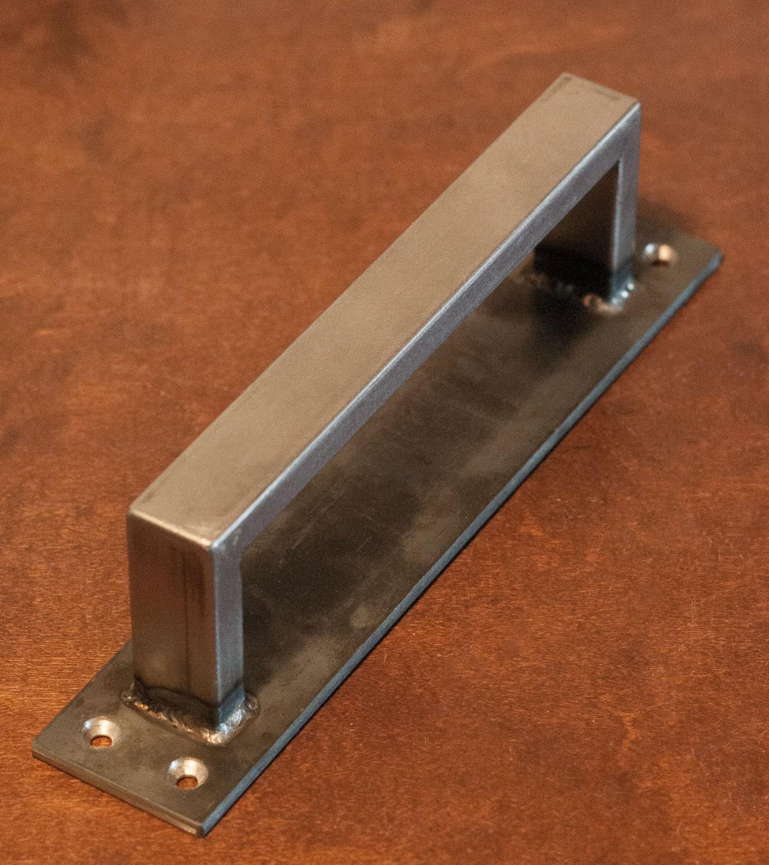 1/2 X 1 Rectangle Steel Sliding Barn Door Handle On Low