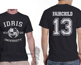 Fairchild 13 Idris University printed on MEN tee Black