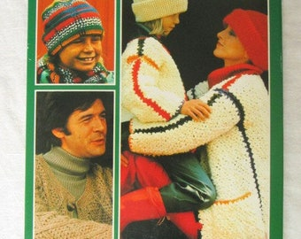 Vintage 1979 Crochet Fashions For The Whole Family Illustrated Book English Language Used WORLDWIDE SHIPPING