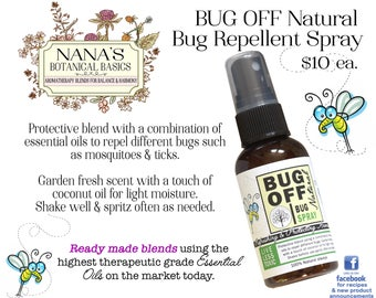 BUG OFF Natural Bug Repellent with Essential Oils by Nana's Botanical Basics