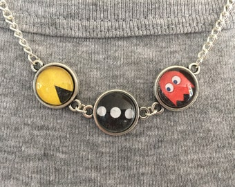Handmade Pacman Inspired Necklace