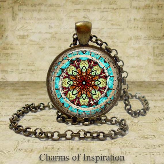 Yoga Jewelry Mandala Necklace Spiritual Jewelry Yoga