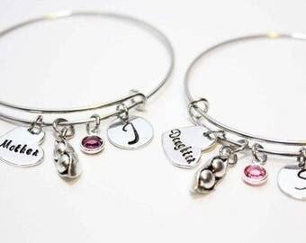 mother daughter bracelet set, mother daughter bangle set, mother daughter jewelry, mother daughter bracelets, mother daughter jewelry set