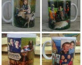 Christmas Gift Custom Photo Collage Mug, Personalized Picture Coffee Cup, Unique Photo Gifts, Perfect Birthday Gift for Grandparents