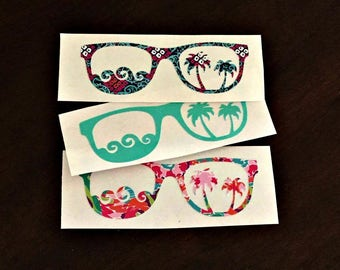 Sunglasses Decal - Sunglasses - Yeti Sunglass Decal - Beach Decal - Sunglass Sticker - Yeti - Rtic