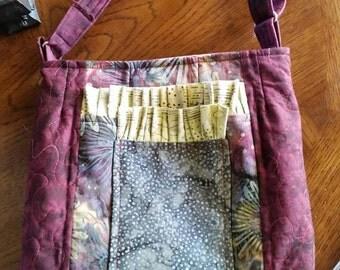 Lightweight beautiful batik crossbody bag