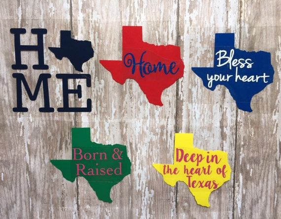 Texas Home State Iron on Decals/ Bless your heart/Texas Decals/ Deep in the heart of Texas/ DIY Texas Shirt/ DIY Texas Design