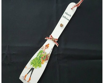 mothers day. Kitchen decor. Mums kitchen gift. A gift for mum. Hanging kitchen utencil. Handcrafted découpage gift. London
