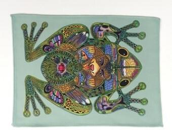 Microfiber Cloth Wipes Frog Animal Spirits by Sue Coccia Native American Art Microfiber for Glasses, Computer Screens Ipad, & Phones USA