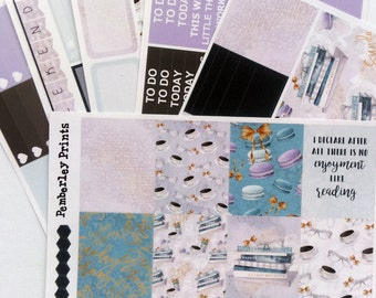 Lazy Sunday - A Weekly Reading Books Coffee Planner Sticker Kit Perfect for the Erin Condren or Any Other Planner