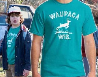 WAUPACA T-shirt Stranger Things Dustin Halloween costume cosplay Shirts Mens Womens Kids sizes