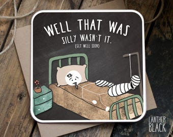 Get Well Soon Card / Funny Get Well Soon card / Funny Get Well card /  Get well card / Funny sympathy card / Funny sorry card / SM22