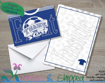 Soccer Jersey Thank You; Folded Card; Postcard; PDF; E-Card