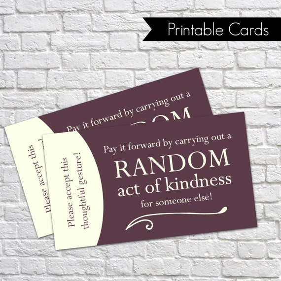 Zany image with regard to random acts of kindness cards printable