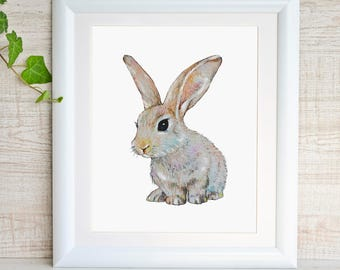 Bunny Painting Bunny Print Bunny Watercolor Bunny Art Rabbit Art Print Rabbit Watercolor Painting Baby Rabbit Baby Animal Print Bunny Poster