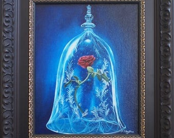 Enchanted Rose (Original Acrylic Painting on Canvas Panel)