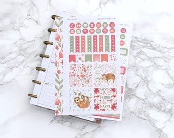 MATTE Mini HP Sleepy Sloths Planner Sticker Kit - For MINI Happy Planners