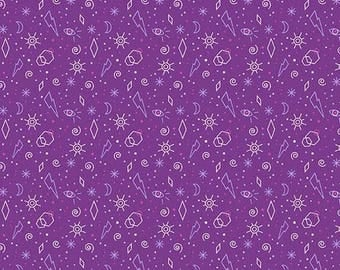 Tattooed in Zoltar Purple by Libs Elliot from Andover Fabrics - 1/2 yard