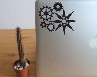 FUN STICKERS, steampunk laptop decoration decals