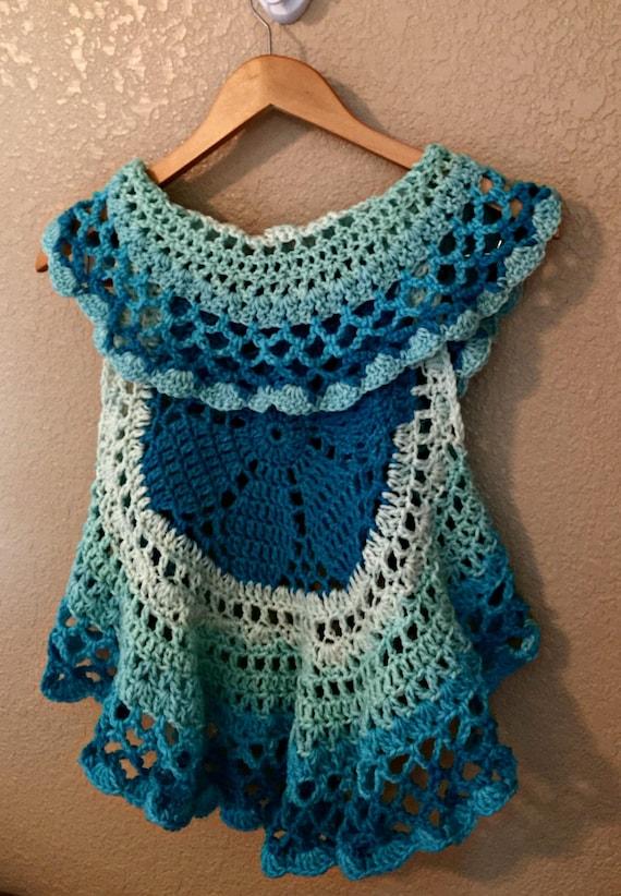 Circle Vest Crochet Pattern Crochet Top Pattern Girls