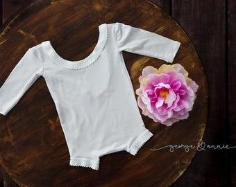 Julia Little Girl Romper - Newborn, 6-9 Months or 12 Months - Photography Prop