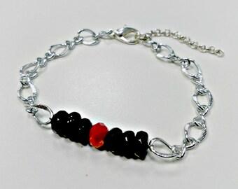 Black and Red String Bracelet