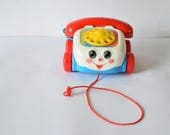 Vintage Fisher Price Chatter Telephone Toy Working VGC