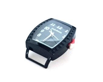 Black Watch Face / Rectangular Watch Face / Narmi Watch Face / Black on Black Watch Face