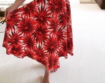 1950s Brilliant sunflower novelty print skirt