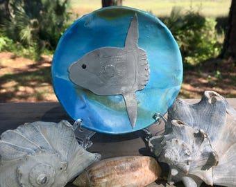 Mola mola dish / Ocean sunfish / ring dish / trinket dish / key dish / jewelry dish / middle size