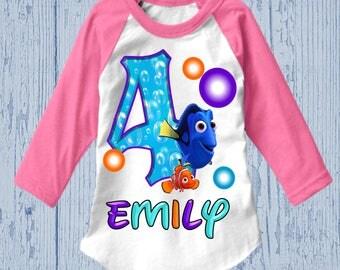 Finding Dory Birthday Shirt - Finding Nemo Birthday Shirt