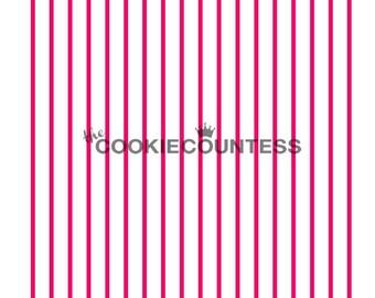 Pinstripes Cookie Stencil