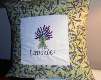 Lavender feather pillow harkens to spring!