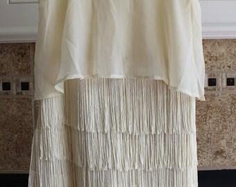 1920s Flapper Inspired Ivory Dress