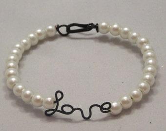 Hand Wrapped LOVE bracelet