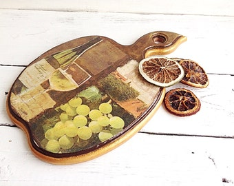 Decorative board Kitchen wooden board Cutting Board Kitchen decoration Board Apple Rustic kitchen Gift for women