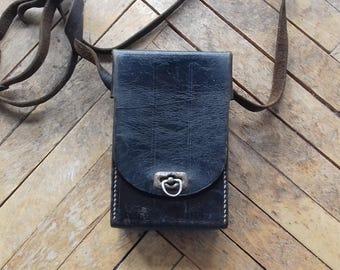 Vintage Leather Case/ Hard Case/Shoulder Pouch-probably Camera Case