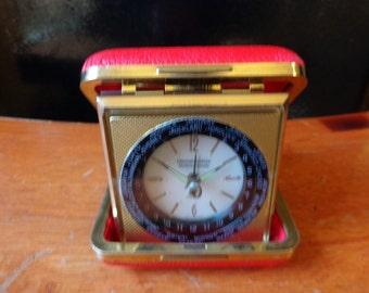Vintage Hammacher Schlemmer travel alarm clock watch Germany