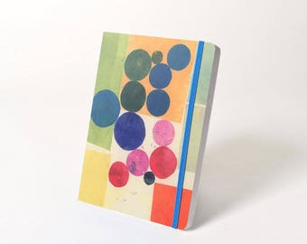 "Blank Hardcover Journal with Elastic Closure, ""Circles"""