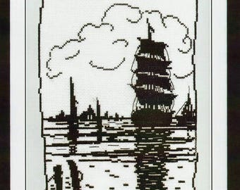 Counted Cross Stitch Kit Tall Ship art. KR-0451